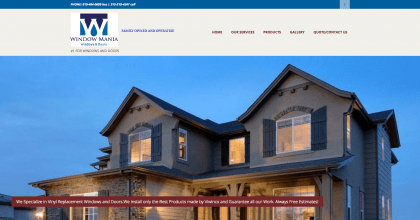 Window Mania's website was designed by Interlace Communications based out of Shoemakersville PA