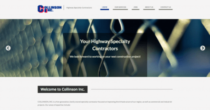 Collinson Inc.'s website was designed by Interlace Communications based out of Shoemakersville PA.