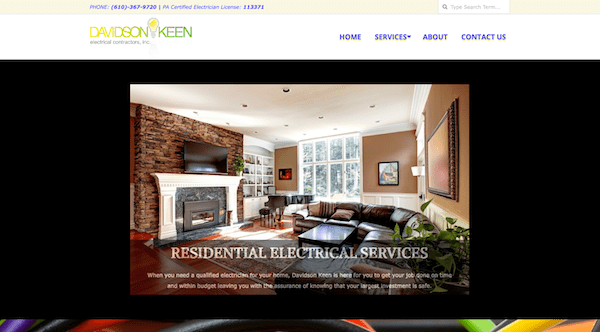 Davidson Keen Electrical Contractors Designed by goMAaVA