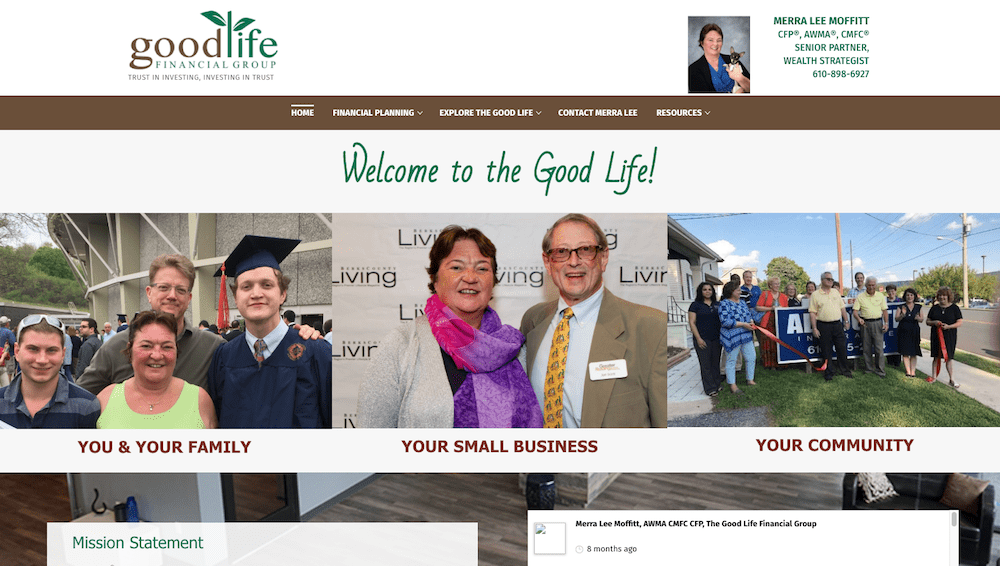 Merra Lee Moffitt's website was designed and is maintained by Interlace Communications in Shoemakersville PA
