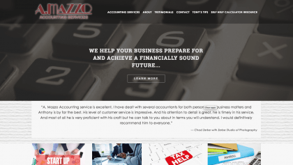 A.Mazzo Accounting Services website was designed by Interlace Communications