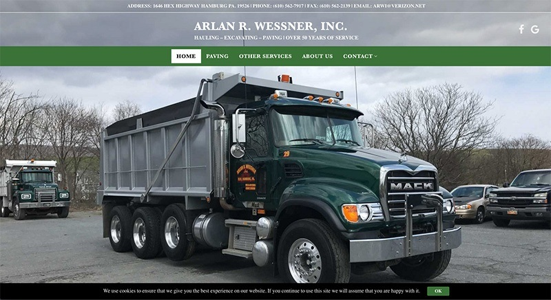 Arlan R. Wessner, Inc.'s website was designed by Interlace Communications in Shoemakersville PA
