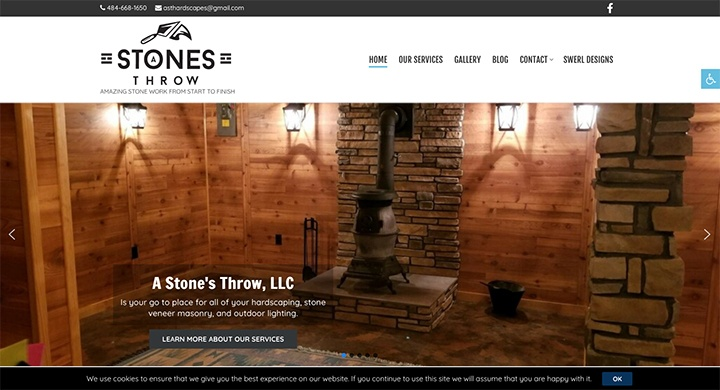 A Stone's Throw website was designed by Interlace Communications in Shoemakersville PA