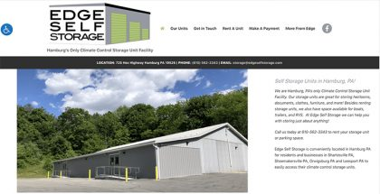 Edge Self Storage website was designed and is maintained by Interlace Communications.