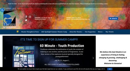 Genesius Theatre's website was designed and is maintained by Interlace Communications in Shoemakersville PA