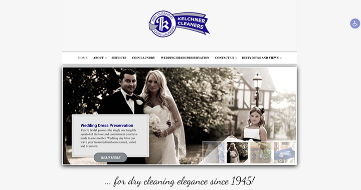 Kelchner Cleaners website was designed by Interlace Communications in Shoemakersville PA