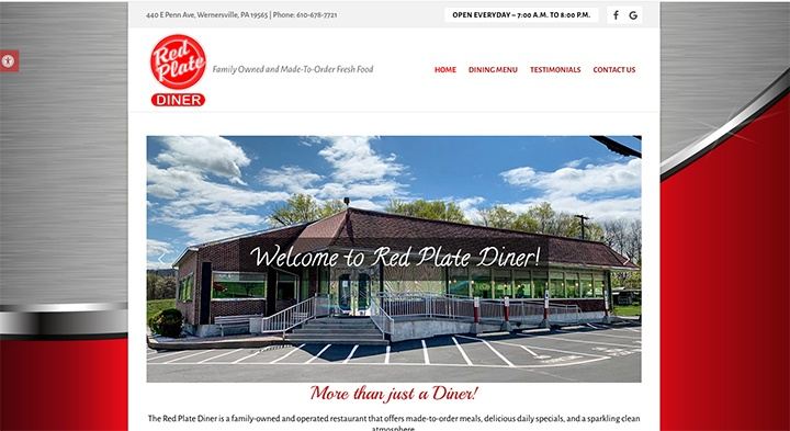 Red Plate Diner's website was designed by Interlace Communications