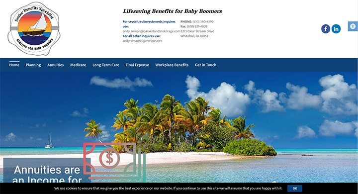 Senior Benefits Specialist's website was designed and is maintained by interlace communications in shoemakersville pa.