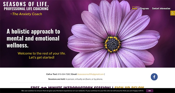 Seasons of Life Coaching was designed by Interlace Communications