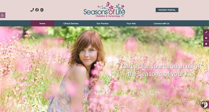 Seasons of Life OBGYN's website was designed by Interlace Communications.