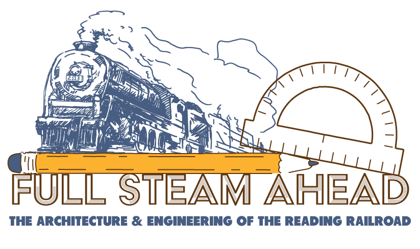 full steam ahead the architecture and engineering of the reading railroad wide logo